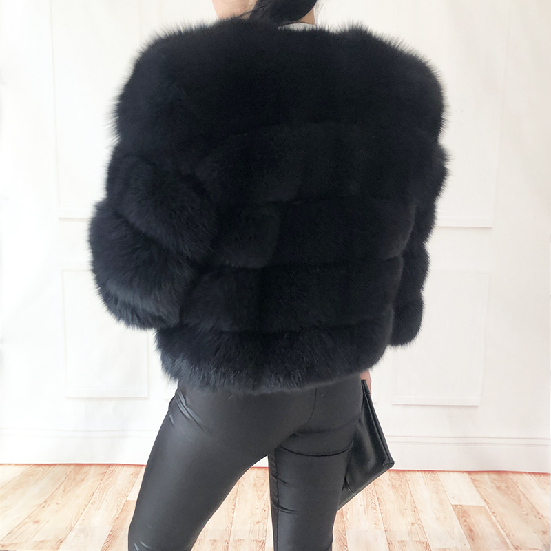 2019 new style real fur coat 100% natural fur jacket female winter warm leather fox fur coat high quality fur vest Free shipping 167