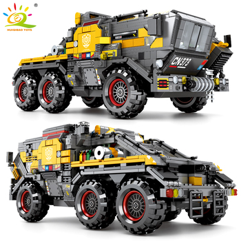 HUIQIBAO 1445Pcs City Wandering Earth Chariot Bucket Shop Trucks Building Blocks Military Vehicle Soldiers Figures Bricks Toys