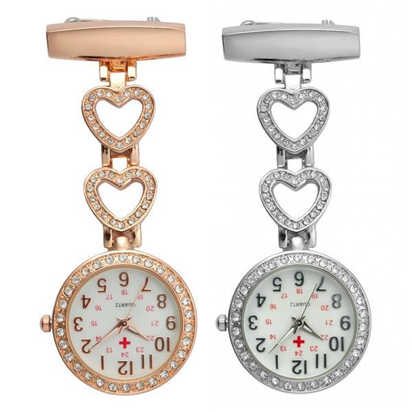 Fashion Trend New Nurse Watch Chest Watch Medical Nurse Pocket Watch Diamond Watch