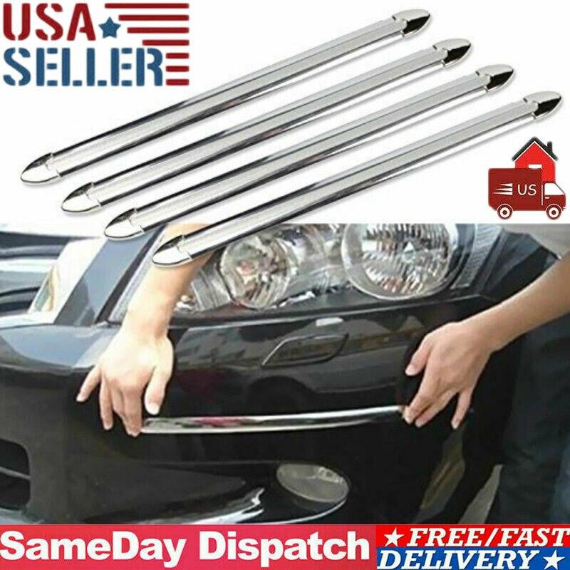 4Pcs Car Bumper Edge Anti-collision Strips Bumper Protector Protective Guard Bar Anti-Rub Tool