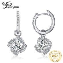 JPalace Flower Cubic Zirconia Dangle Drop Earrings 925 Sterling Silver Earrings For Women Korean Earrings Fashion Jewelry 2019
