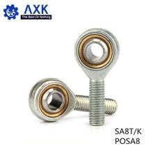 Горячая Распродажа SA8T/K POSA8 8 мм правая рука наружная резьба метрический конец стержня шарнирный Подшипник POS8A