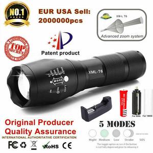 LED Flashlight Battery Linterna Powerful Torch 18650 Waterproof Outdoor Camping Xml T6