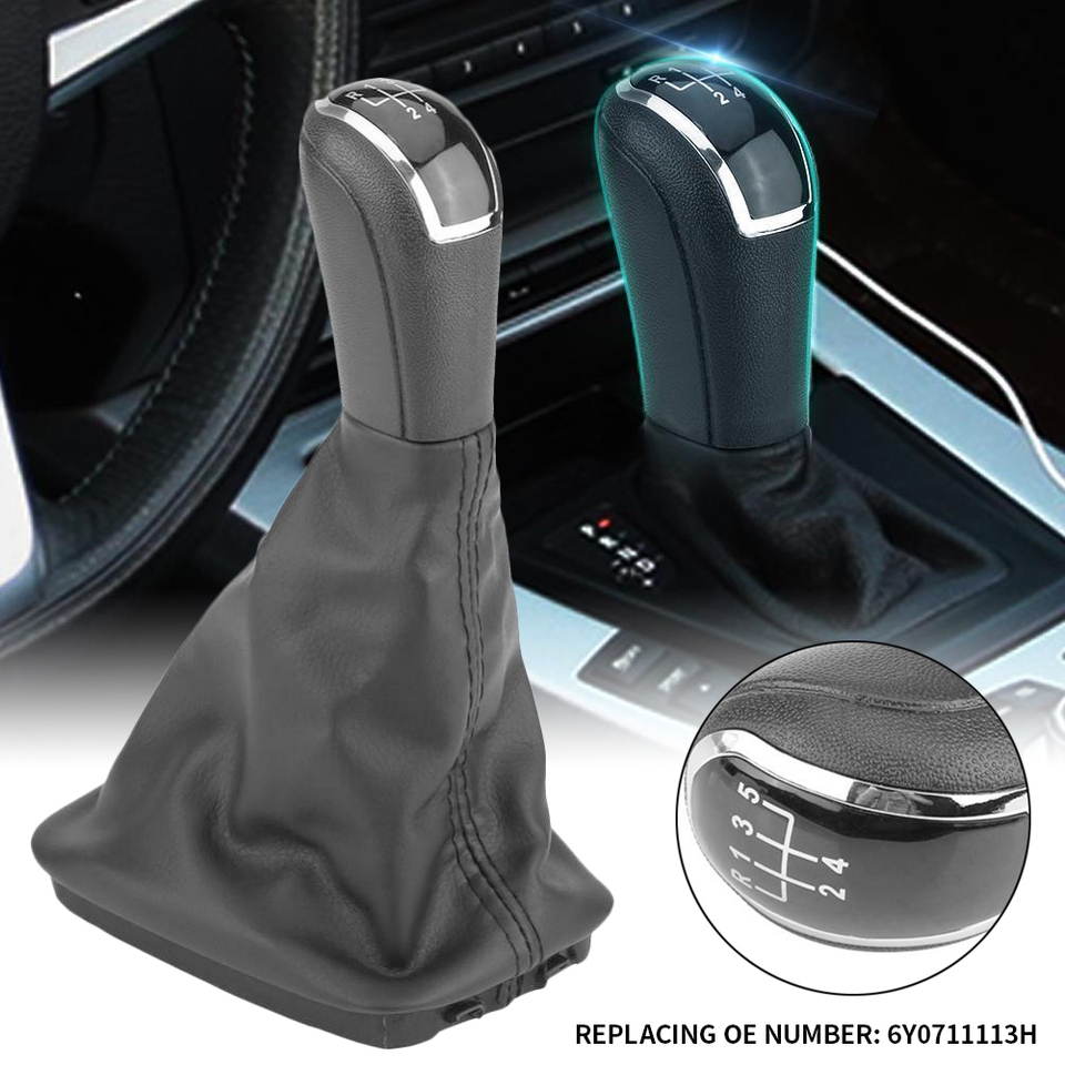 Skoda Fabia Gear Shift Knob Boot Lever Stick Handle Head Cover Car Accessories
