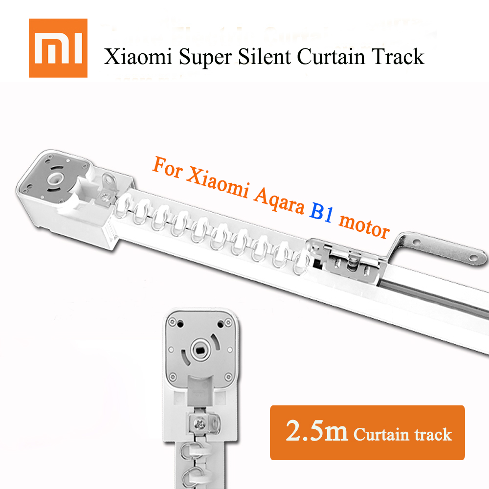 2.1m~2.5m Super Quite Electric Curtain Track For Xiaomi Aqara B1 Motor,Mijia Aqara Motor, Dooya Curtain Motor,Customized Automatic Curtain Rail System For Smart Home