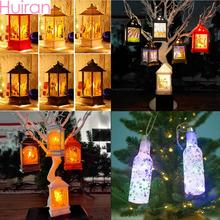 Huiran Merry Christmas LED Lights Pendants Drop Ornaments Decorations for Home Xmas Light Noel Table Decor