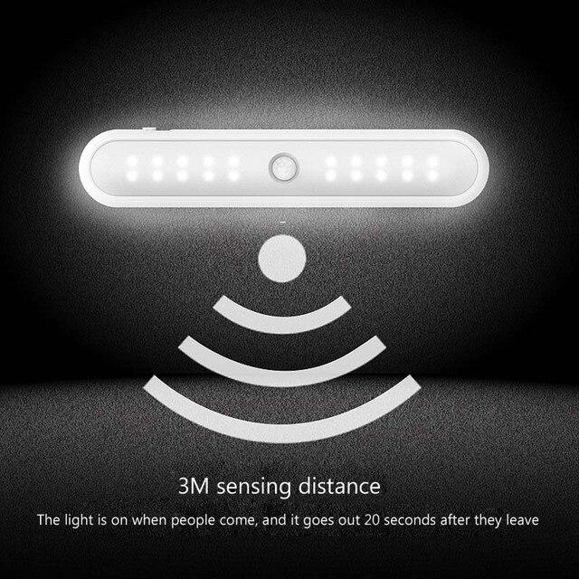 Фото умный мини светильник для шкафа 20 светодиодов с инфракрасным