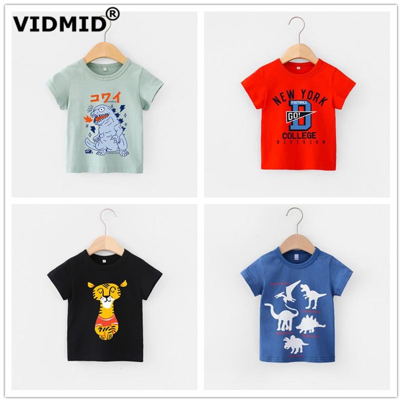 VIDMID 2-6Y boys Clothing Summer Children Infant Kid Boys shirts basic Cartoon Dinosaur Letter T-shirt Tops Shirts Tees 4018 31 1