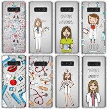 Spain Cute Cartoon Medicine Nurse Doctor Dentist TPU Soft Case For Samsung A30 S10LITE S9 S7 S8 S9PIUS S7EDGE 2018A8 A6 NOTE9