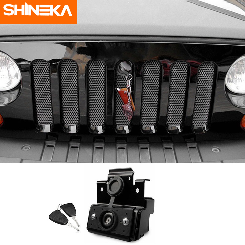 Locks & Hardware For <font><b>Jeep</b></font> Wrangler JK 2007-2017 Car Anti-Theft <font><b>Hood</b></font> <font><b>Latch</b></font> Catch Engine Cover Lock Match Key For <font><b>Jeep</b></font> Wrangler JK image