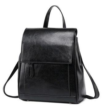 Fashion genuine leather backpack women high quality travel leather backpack designer rucksack women back pack female ladies bag