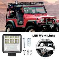 1PC LED Work Daylight 12600LM Off-road Car Driving Fog Lamp 42LED Chips 126W Square Automobile Motorcycle Headlight