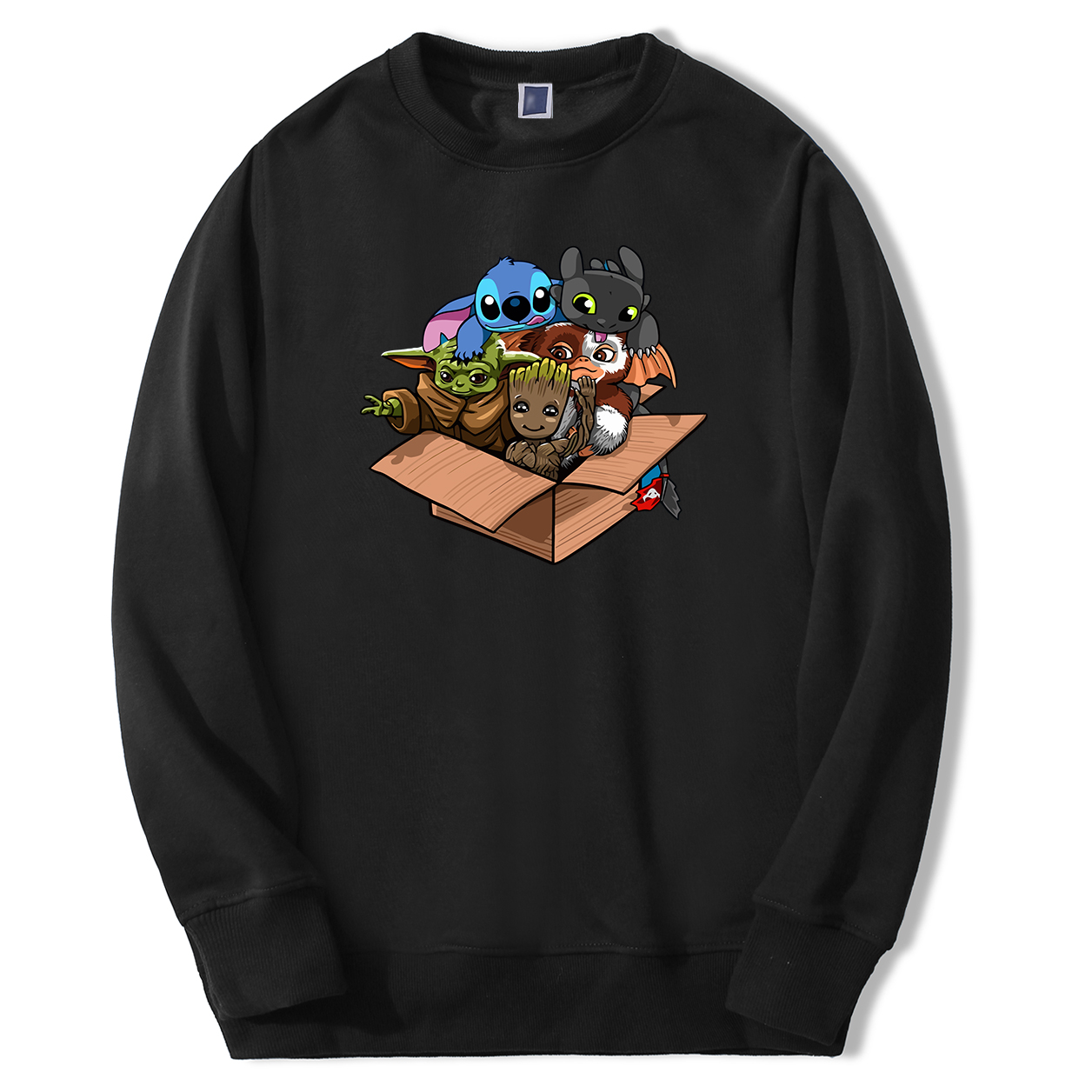 Kawaii Full Team Men's Groot Baby Yoda Stitch Sweatshirts Male Hoodies Sweatshirts 2020 Spring Autumn Fleece Sweatshirt Man Tops