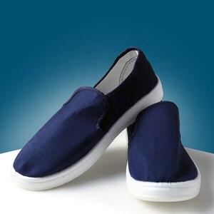 Image 3 - Anti Static รองเท้าเพื่อความปลอดภัยรองเท้าผ้าใบสีฟ้าแรงงาน Work Shop ทำความสะอาดฝุ่น ฟรี Purification