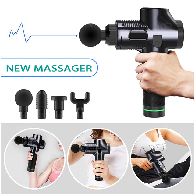 LCD Display Massage Gun Deep Muscle Massager Muscle Pain Body Neck Massage Exercising  Relaxation Slimming Shaping Pain Relief 3