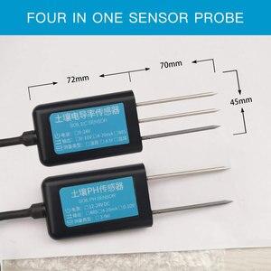 Image 3 - LoRa senza fili di umidità del terreno ph sensore 433/868/915mhz di umidità di temperatura ph conducibilità elettrica 4 in 1 sensore di data logger