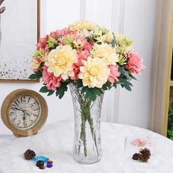 Flores artificiales de seda de flor de caléndula con tacto Real, decoración para el hogar, la Sala de bodas, decoración de arreglos florales para hoteles