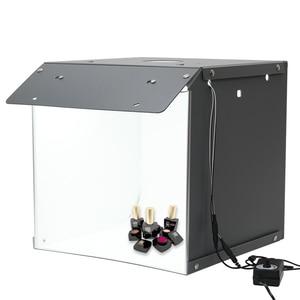 Image 1 - Nowy SANOTO 40cm namiot do zdjęć fotografia tło przenośny Softbox LED Light budka foto fold Photo Studio miękkie pudełko