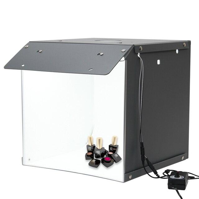 Nowy SANOTO 40cm namiot do zdjęć fotografia tło przenośny Softbox LED Light budka foto fold Photo Studio miękkie pudełko