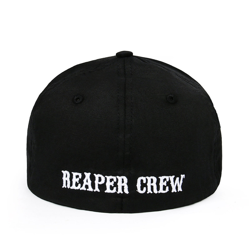 1PCS SOA Sons of Anarchy Fitted   Baseball     Cap   Hat Embroidered Hat Black