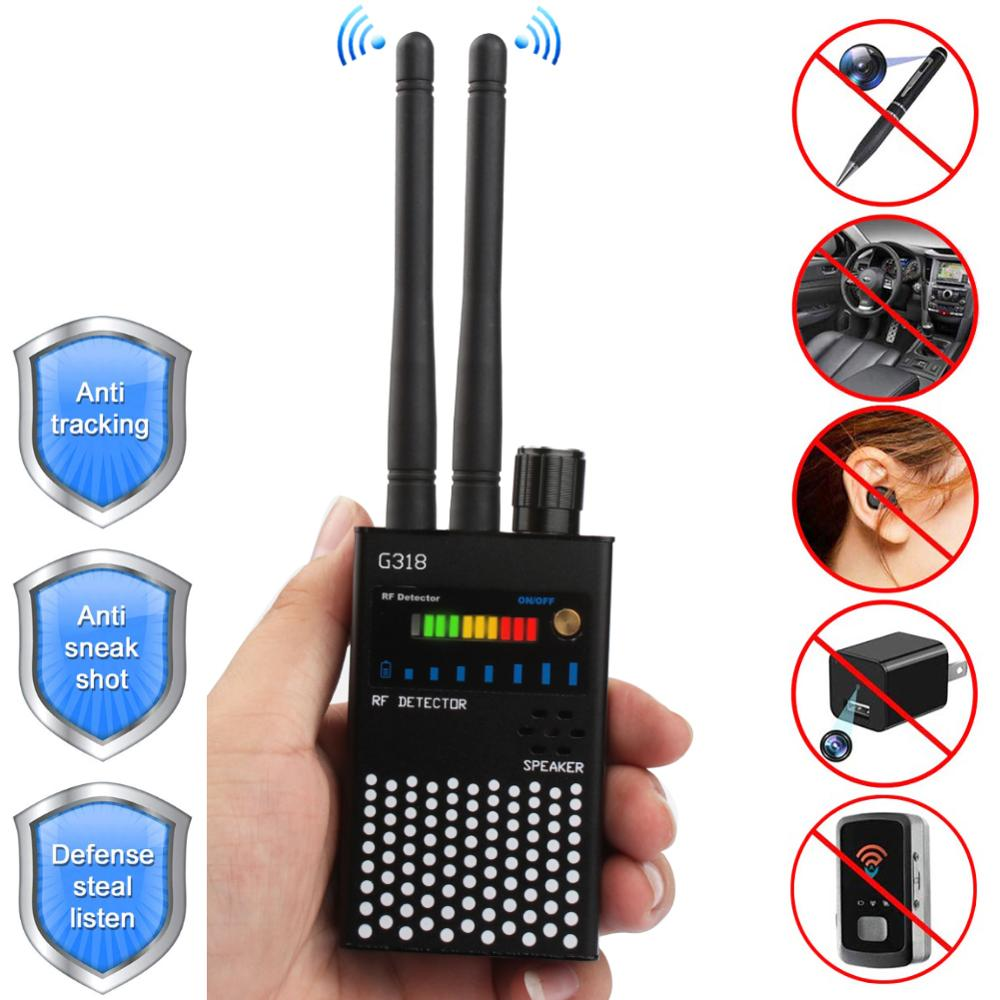 RF Signal Detector, 1MHz-8GHz Frequencies Full Range Wireless Bug Detector for Hidden GSM Listening Device Spy Finder