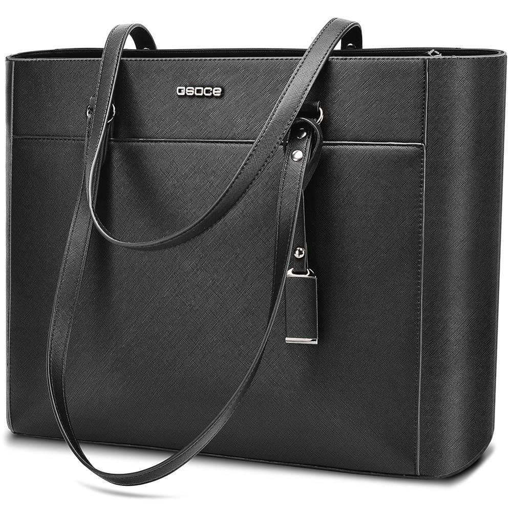 OSOCE laptop bag for women 15.6  briefcase  Waterproof Handbag  Laptop Tote Case luxury Shoulder Bag Office Bags for  notebookBriefcases