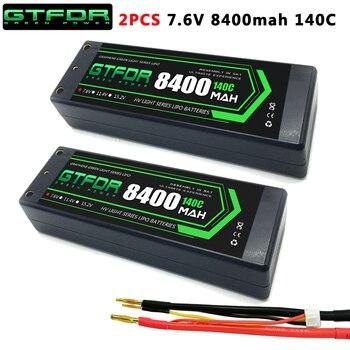 GTFDR 2PCS 2S Lipo Battery 7.4V 7.6V HV 8400mAh 7000mAh 6200mA 5200mAh 140C/280C 100C/200C 60C/120C 4mm for 1/8 1/10 road rc car gtfdr 2pcs 2s lipo battery 7 4v 7 6v hv 8400mah 7000mah 6200ma 5200mah 140c 280c 100c 200c 60c 120c 4mm for 1 8 1 10 road rc car