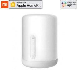 Oiginal Xiaomi Mijia lampka nocna 2 Inteligentna żarówka sterowanie głosem przełącznik dotykowy inteligentna aplikacja regulacja kolorów dla Apple Homekit Siri w Inteligentny pilot zdalnego sterowania od Elektronika użytkowa na