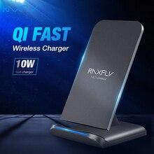 RAXFLY 10W bezprzewodowa ładowarka qi dla iPhone X XR XS MAX Xiaomi szybka ładowarka szybka ładowarka do samsunga uwaga 10 8 9 Plus S10 S10E S9
