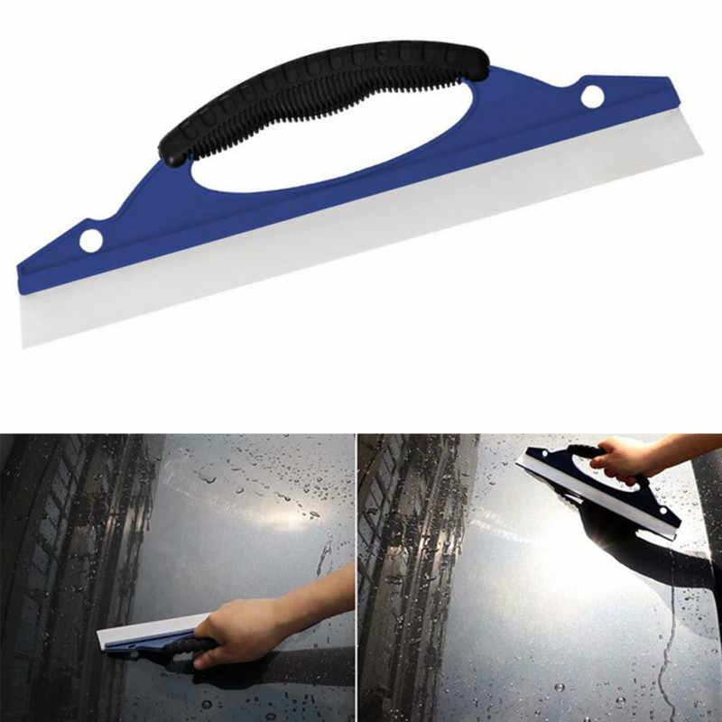 Auto Window Cleaning Squeegee Air Wiper Mobil Perawatan Cuci Kaca Kering Alat Windowshield Scraper Kaca Jendela Wiper