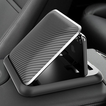 Carbon Fiber Auto Telefon Halter Dashboard Universal 3 zu 6,5 zoll Handy Clip Halterung Für iPhone XR XS MAX GPS Stand