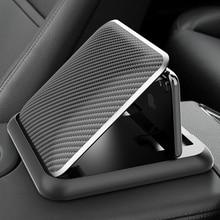 Soporte Universal de fibra de carbono para salpicadero de coche, Clip de montaje para teléfono móvil de 3 a 6,5 pulgadas, para iPhone XR, XS, MAX, GPS