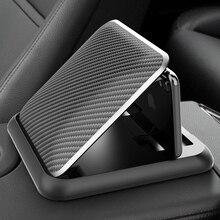 Support de téléphone de voiture en Fiber de carbone tableau de bord universel 3 à 6.5 pouces support de fixation de téléphone portable pour iPhone XR XS MAX support GPS