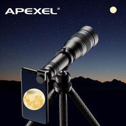 APEXEL 60X Handy Monokulare Teleskop Objektiv astronomische zoom objektiv erweiterbar stativ für iPhone Samsung alle Smartphones
