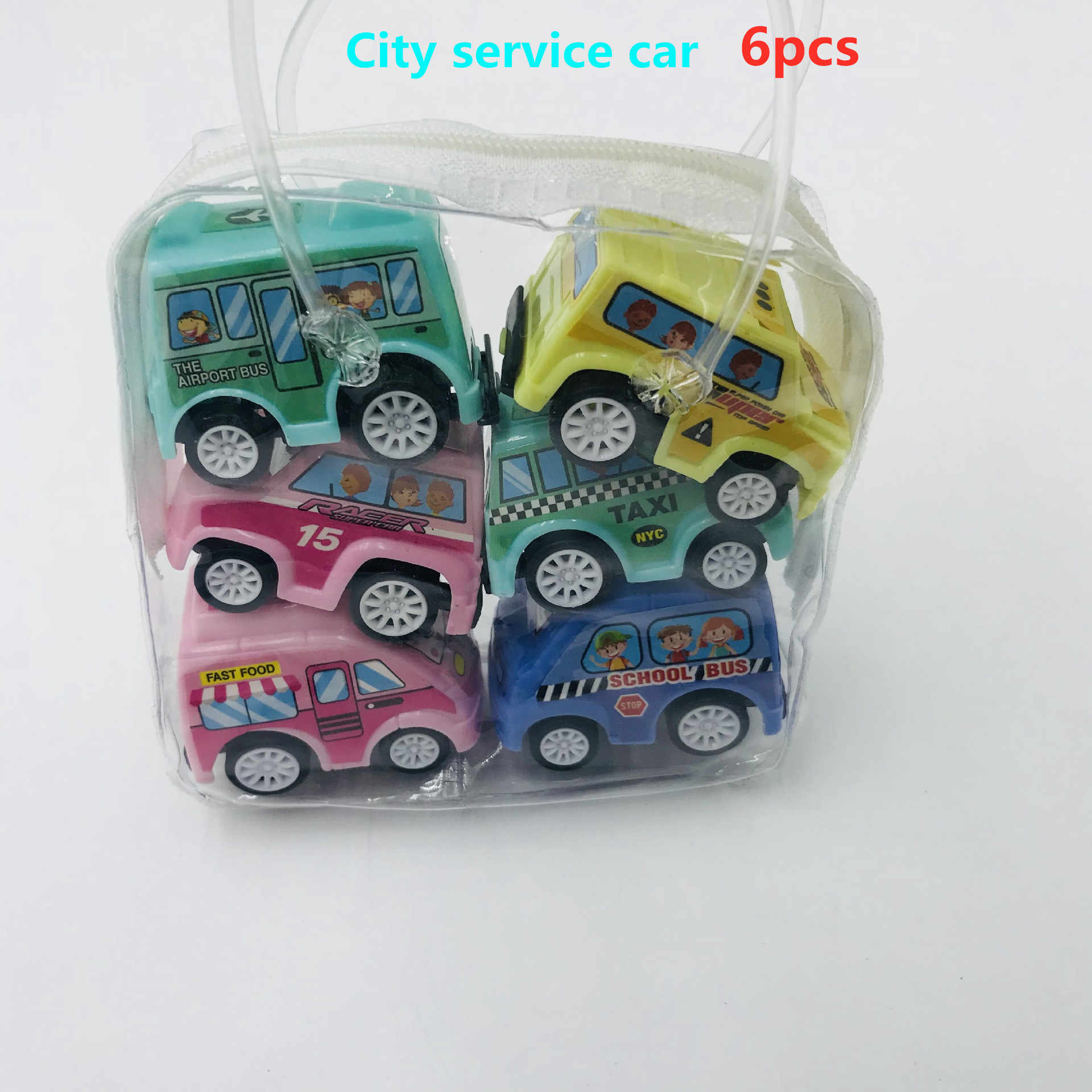 6 шт., игрушки для автомобиля, мобильная техника, магазин, строительная машина, пожарная машина, модель такси, детские мини-машинки, подарок, детские игрушки 2019