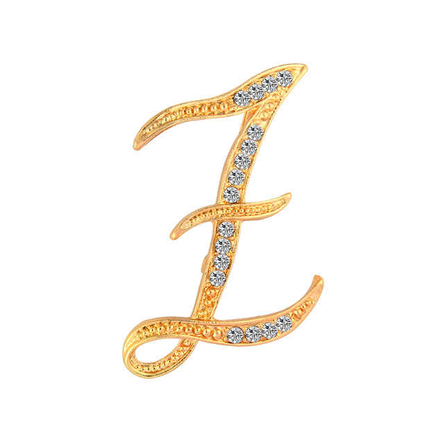 Itenice kristal mektup broş Pins İngilizce mektup alfabetik broş Rhinestone klasik takı hediyeler
