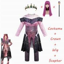 Fantasia de Halloween Rainha Audrey Evie, traje de festa feminino para crianças do filme Descendentes 3