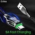 5A Typ C Kabel Schnelle Lade Schlange kopf leuchtet 1m/2m Kabel usbC Für Samsung Huawei P40 p40 pro Xiaomi ladegerät 5A USB-C Kabel
