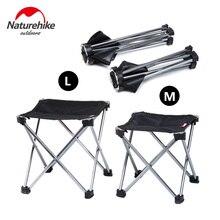 Naturehike открытый портативный ультралегкий складной стул для рыбалки пикника барбекю складное алюминиевое сплав стул кемпинг табурет NH15D012-M