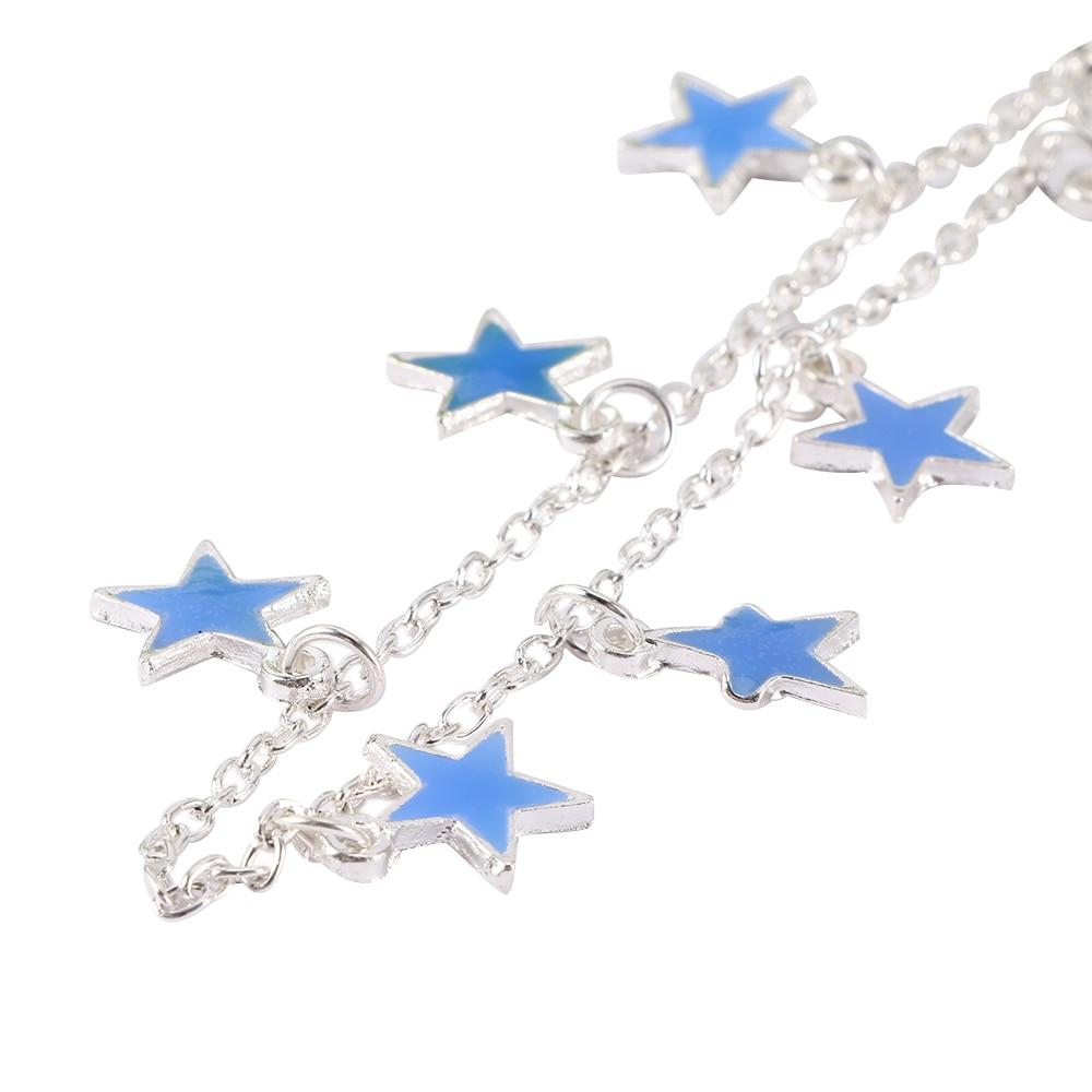 EE/_ Fashion Luminous Star Ankle Bracelet Bead Anklet Foot Chain Bracelet Jewelry