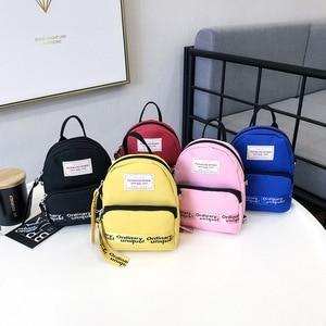 Image 3 - Ougger Woman Shoulder Bag Concise Fashion Simple Canvas Ins Ladies Mini Leisure Crossbody Bags Women Messenger Bag with Zipper