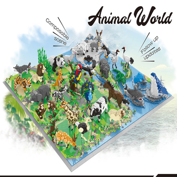 2021 New Animals World Building Blocks Tree Forest Animal Action Figures Compatible City DIY MOC Bricks DIY Toys For Child Gifts image