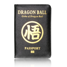 TRASSORY Goku of Dragon Ball Leather RFID Blocking Passport Cover with Card Case and Ticket Holder