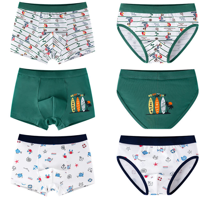 3Pcs/lot Kids Underwear Boys Cotton Boxer Boys Underwear Comfortable Kids Boxers Big Boy Clothes Cartoon Children Briefs 4-16T