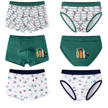 3Pcs/lot Kids Underwear Boys Cotton Boxer Comfortable Boxers Big Boy Clothes Cartoon Children Briefs 4-16T