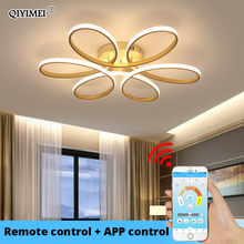 Remote control Ceiling Lights for living room bedroom  White balck body Color Home Deco Lamp AC90 260V Home lighting fixture