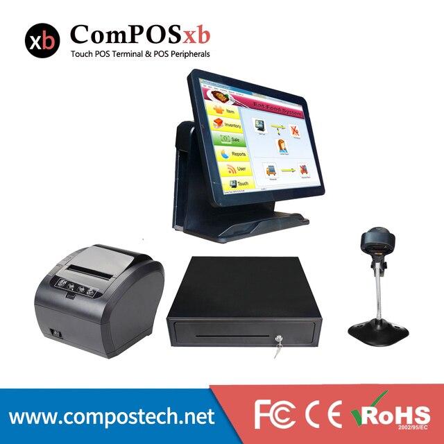 Windws – système de Point de vente Pos, Windows 7, Version de Test, écran tactile LCD TFT 15 pouces, Pc tout-en-un pour Restaurant 1