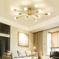 LukLoy Nordic Chandelier Light Luxury Gold Pendant for Living Room Black Simple Bedroom Lights Restaurant Cafe Decoration Lamp