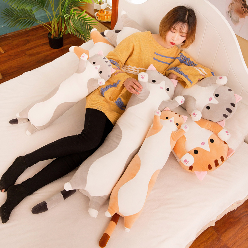 Plush Toys Animal Cat Cute Creative Long Soft Toys Office Lunch Break Nap Sleeping Pillow Cushion Stuffed Gift Doll For Kids 527