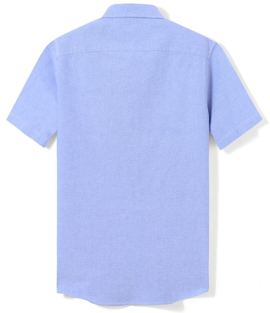 H332a9c046c744e08a0bdc106cbfb2a00a Men's Summer Pure Cotton Oxford Shirts Casual Slim Fit Design Short Sleeve Fashion Male Blouse Shirt
